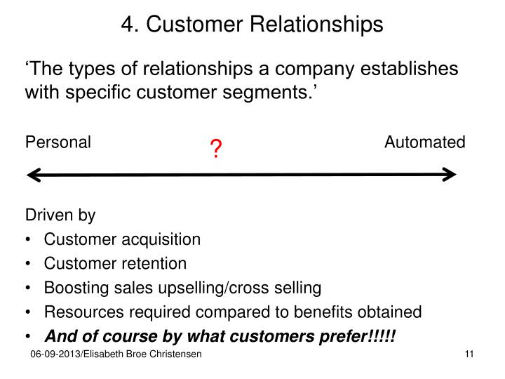 4. Customer Relationships