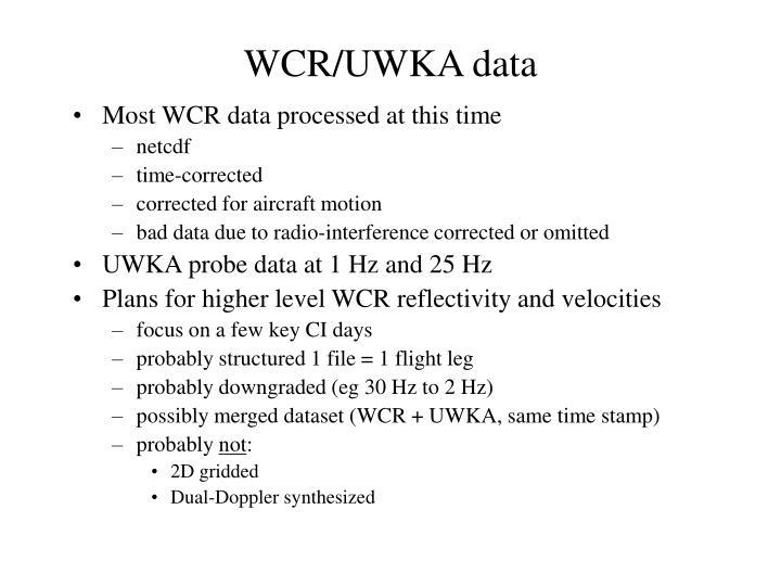 WCR/UWKA data