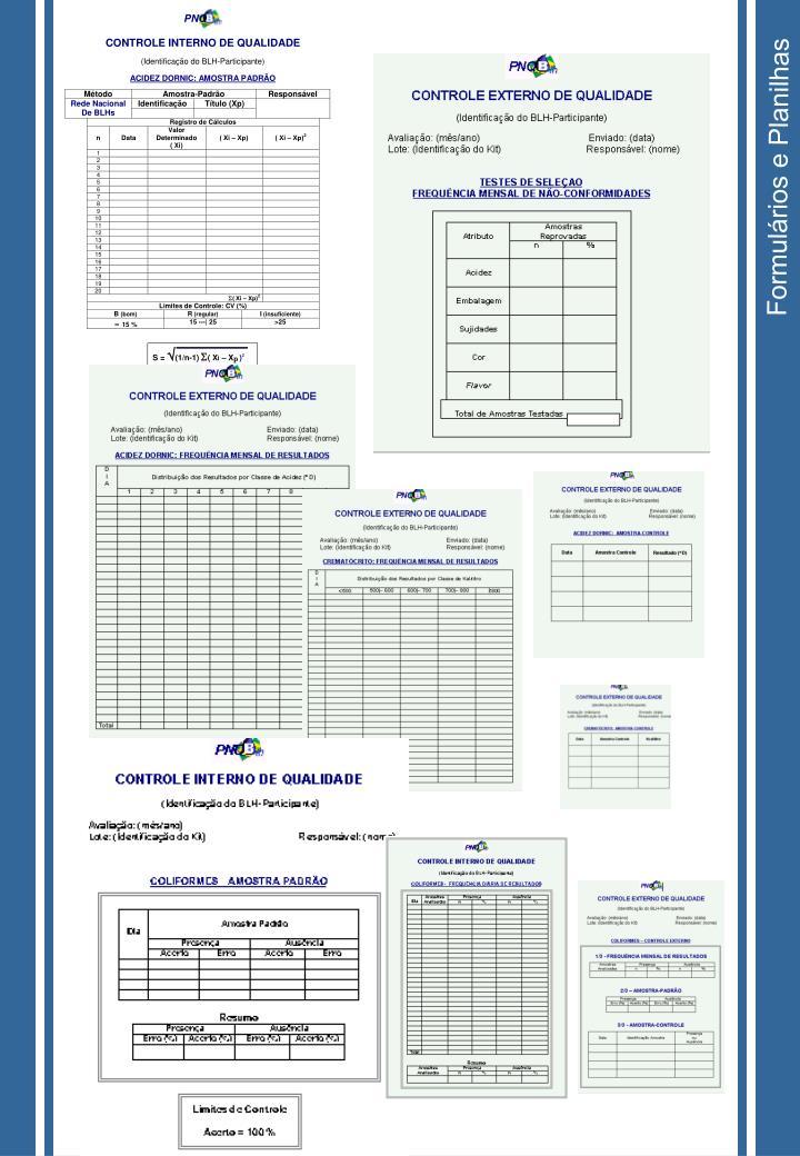 Formulários e Planilhas