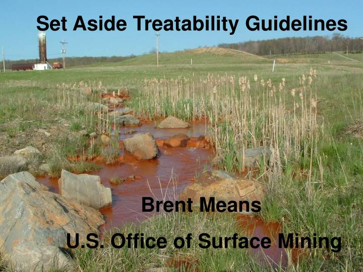 Set Aside Treatability Guidelines