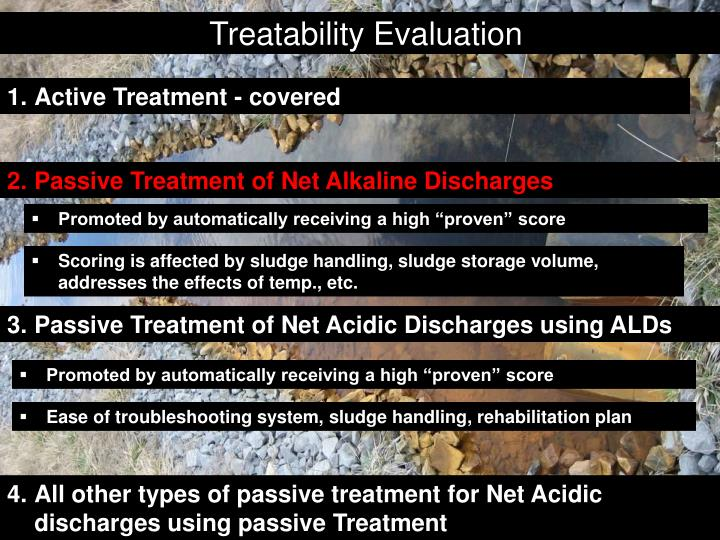 Treatability Evaluation