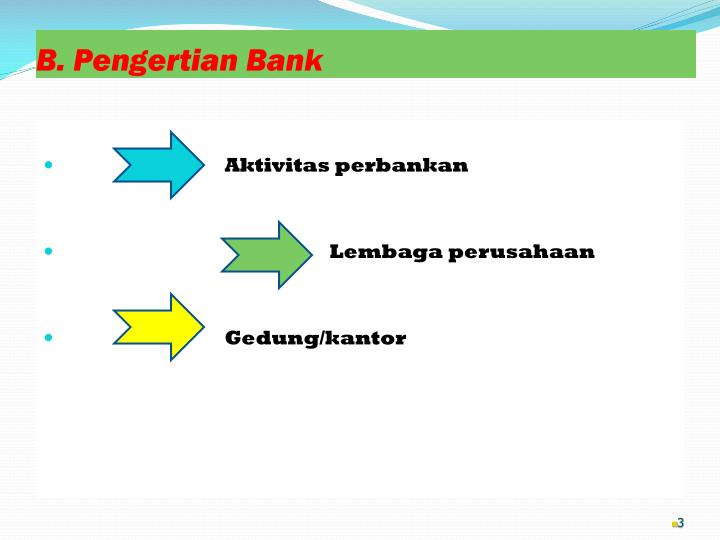 B pengertian bank