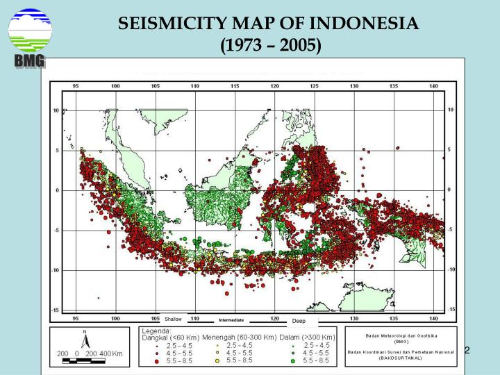 SEISMICITY MAP OF INDONESIA