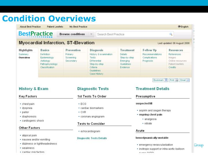 Condition Overviews