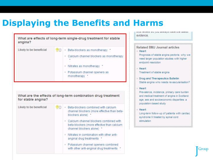 Displaying the Benefits and Harms