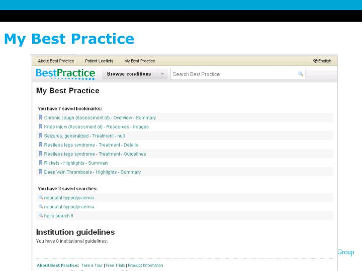 My Best Practice