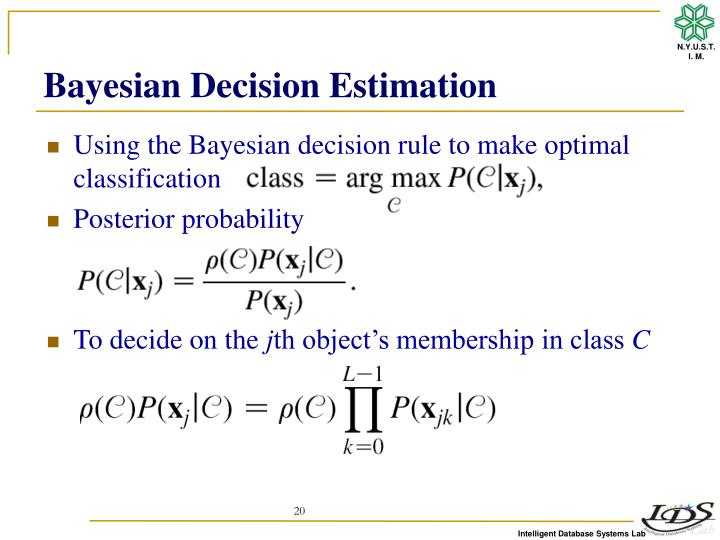 Bayesian Decision Estimation