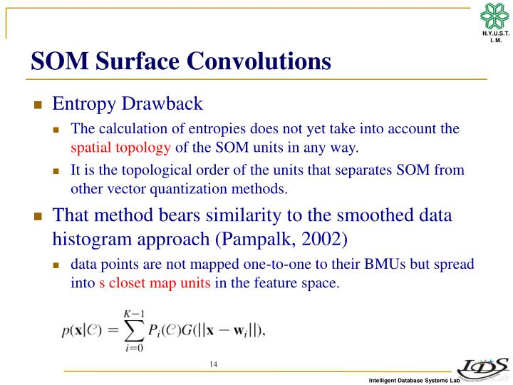 SOM Surface Convolutions