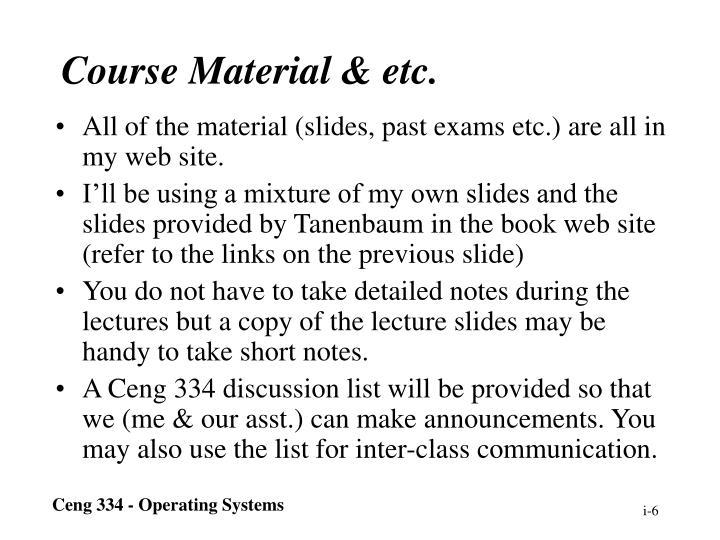 Course Material & etc.