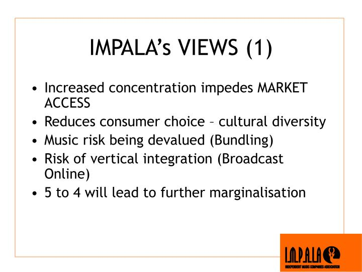 IMPALA's VIEWS (1)