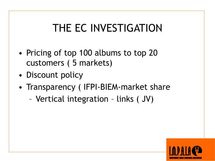 THE EC INVESTIGATION