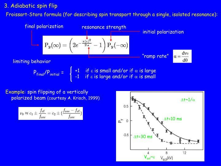 3. Adiabatic spin flip