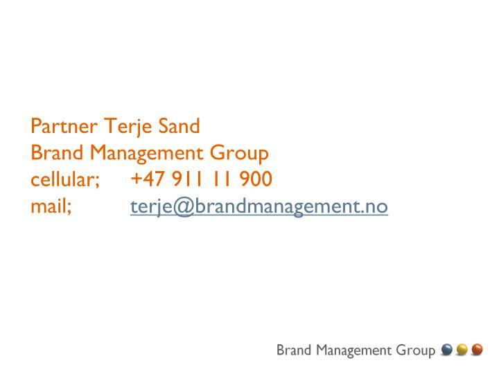 Partner Terje Sand