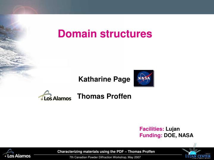 Domain structures