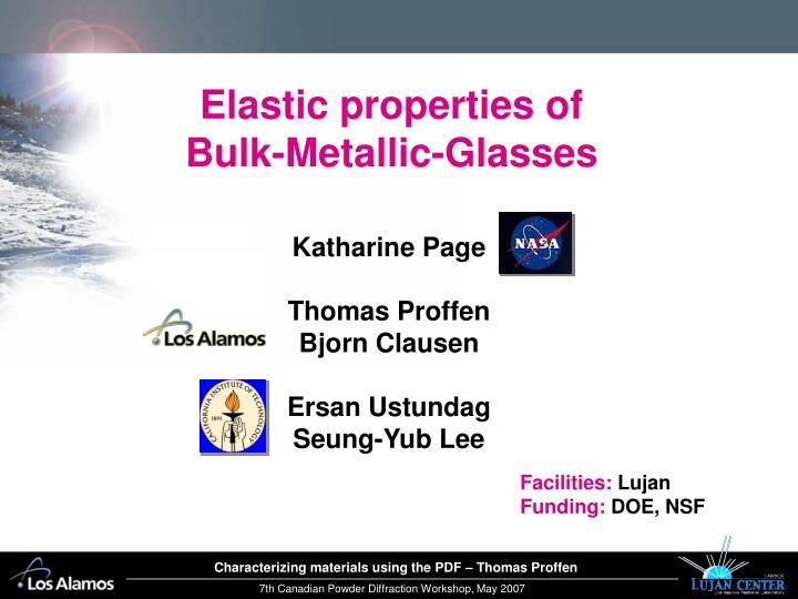 Elastic properties of