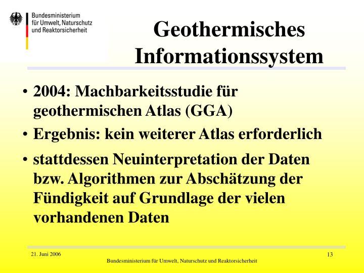 Geothermisches Informationssystem
