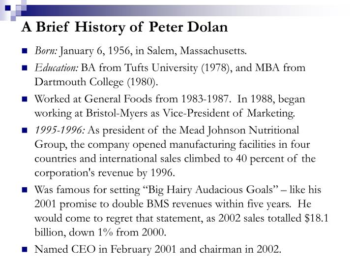 A Brief History of Peter Dolan