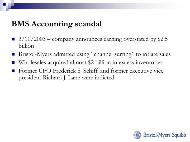 BMS Accounting scandal