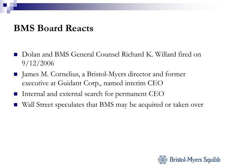 BMS Board Reacts