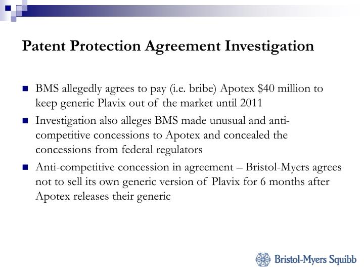 Patent Protection Agreement Investigation
