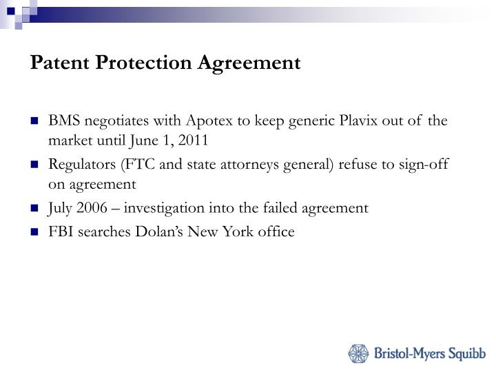 Patent Protection Agreement