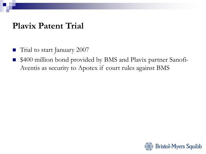Plavix Patent Trial