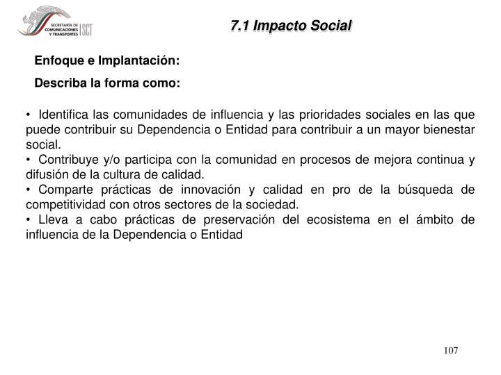 7.1 Impacto Social
