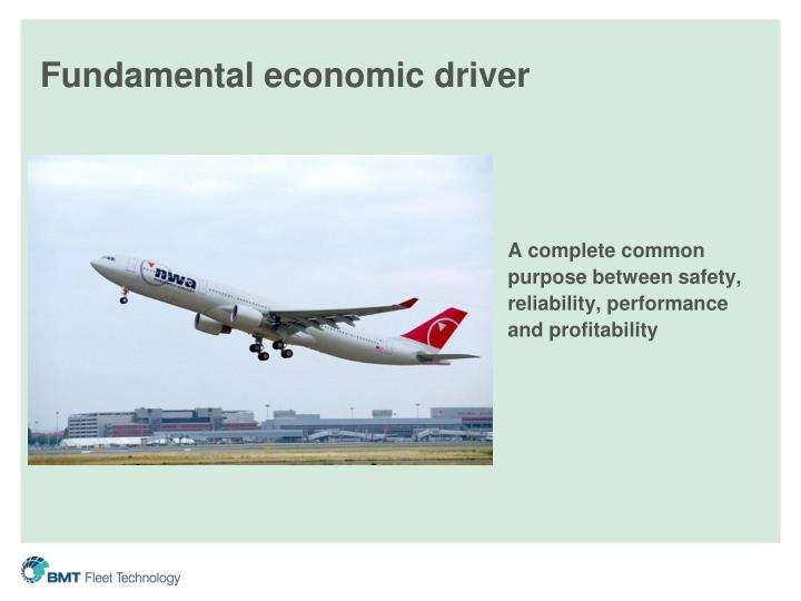 Fundamental economic driver