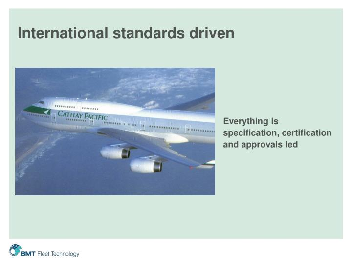 International standards driven