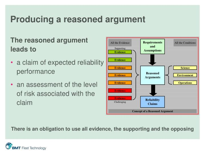 Producing a reasoned argument