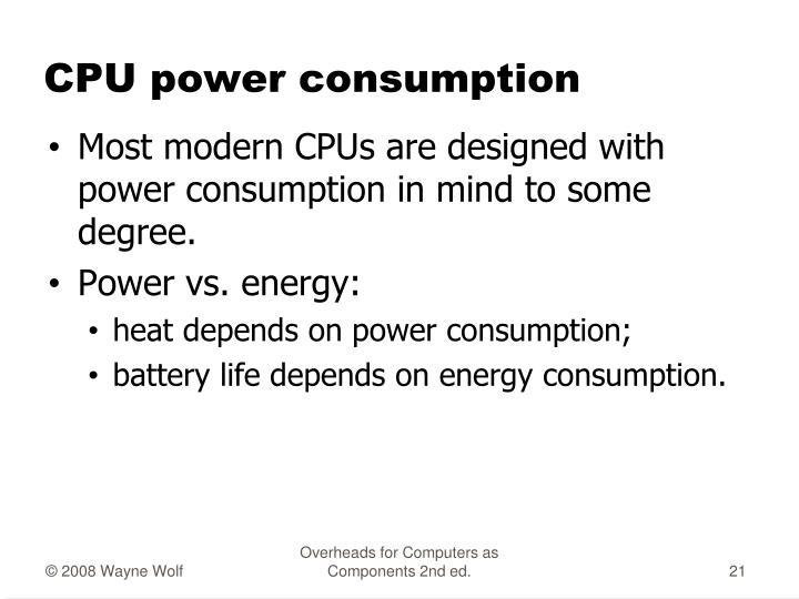 CPU power consumption