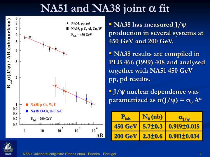NA51 and NA38 joint