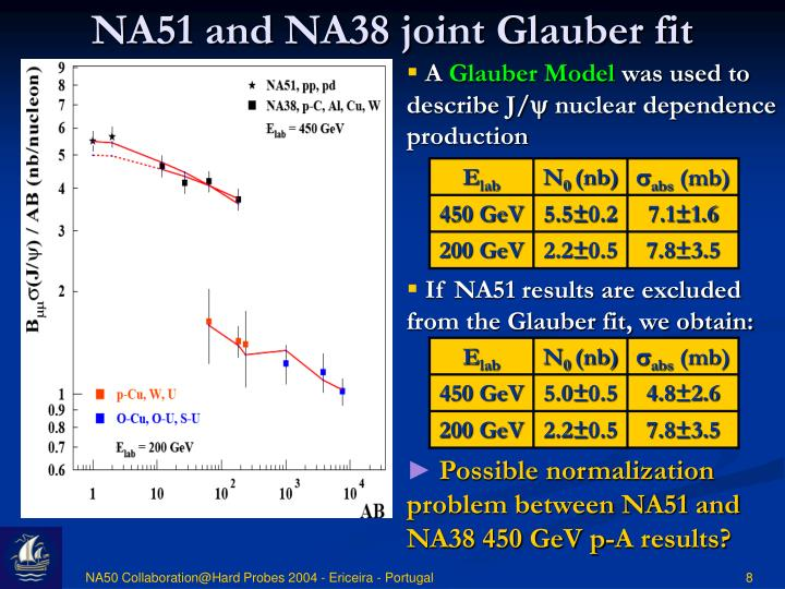 NA51 and NA38 joint Glauber fit