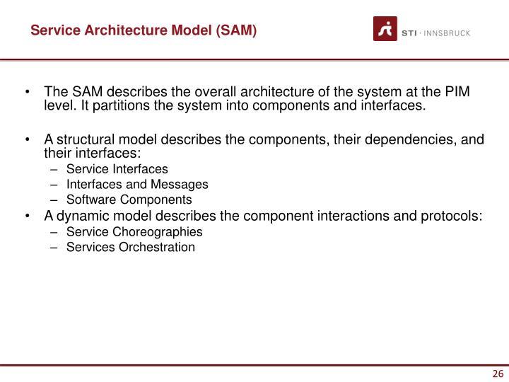 Service Architecture Model (SAM)