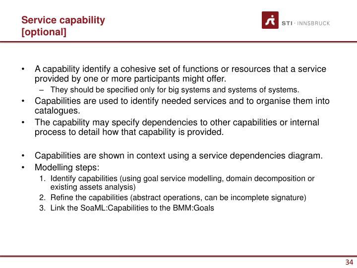 Service capability