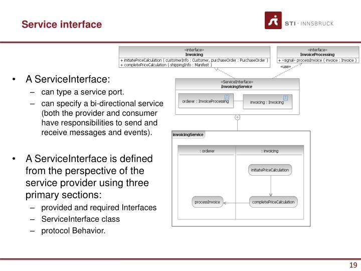 A ServiceInterface: