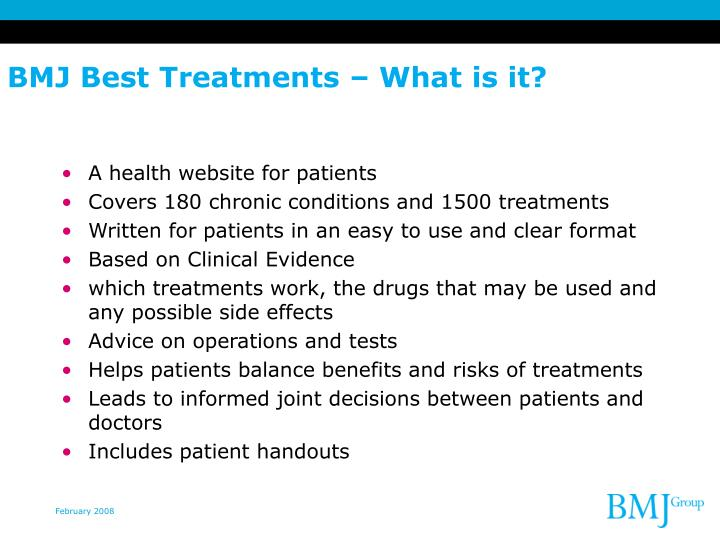 BMJ Best Treatments – What is it?