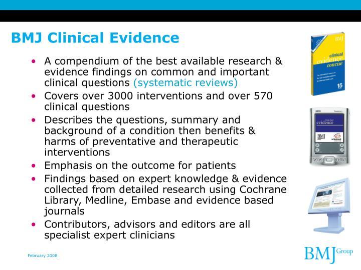 BMJ Clinical Evidence