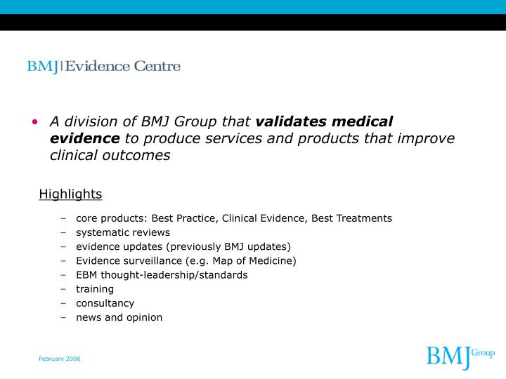 A division of BMJ Group that