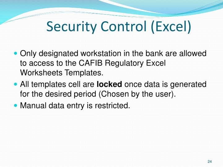 Security Control (Excel)