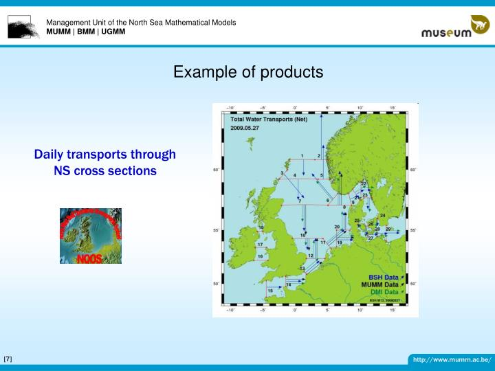 Example of products