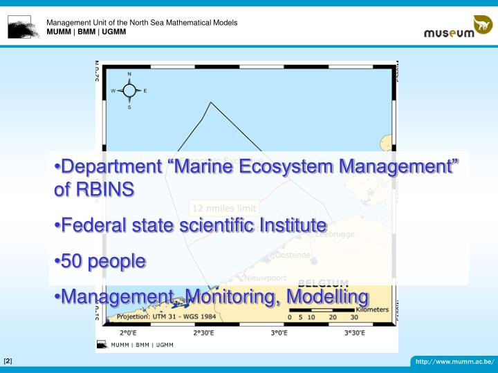 "Department ""Marine Ecosystem Management"" of RBINS"