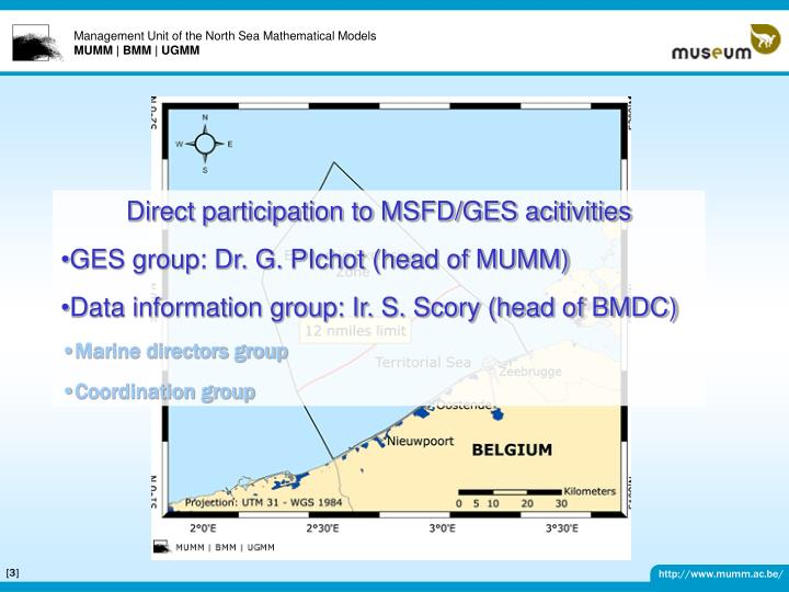 Direct participation to MSFD/GES acitivities