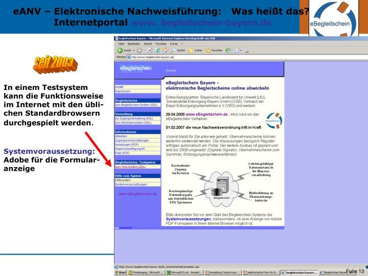 eANV – Elektronische Nachweisführung:   Was heißt das?