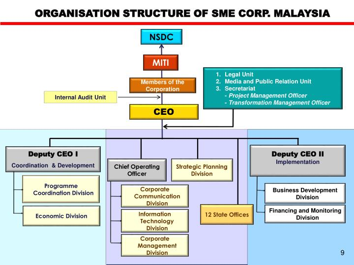 ORGANISATION STRUCTURE OF SME