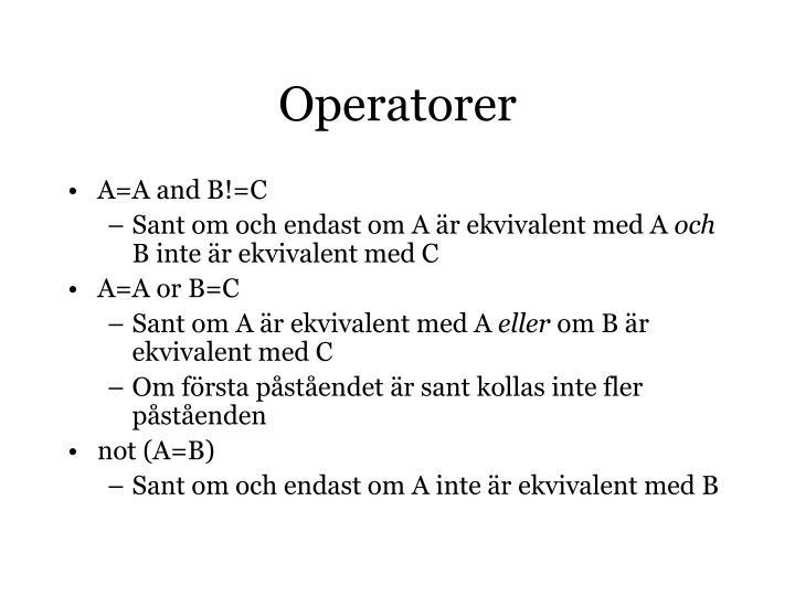 Operatorer