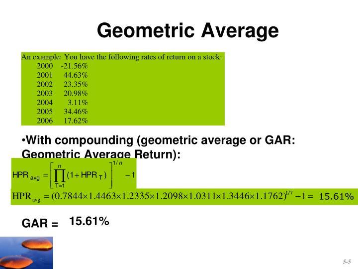 Geometric Average