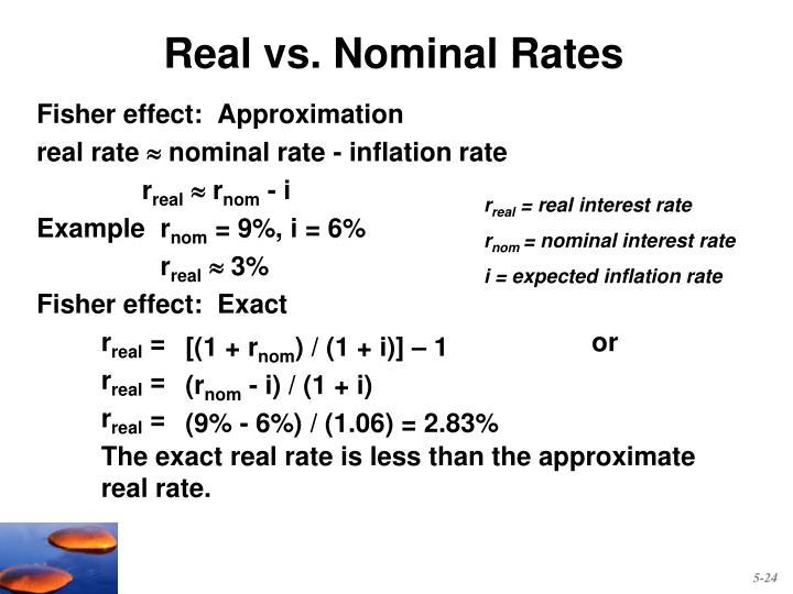 Real vs. Nominal Rates