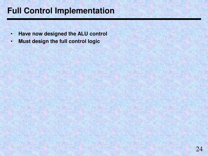 Full Control Implementation