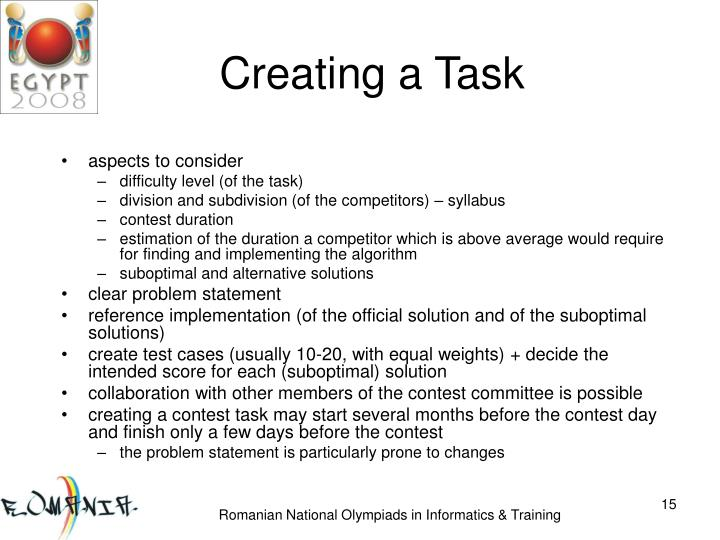 Creating a Task